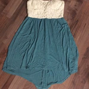 Cute strapless high low dress